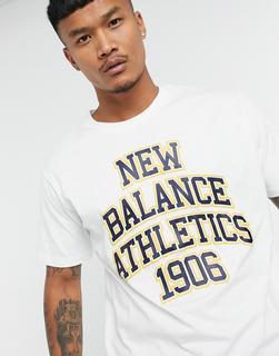new balance - Athletics – College-T-Shirt in Weiß