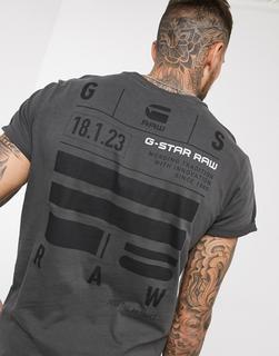 G-Star - Lash – Graues T-Shirt mit Tasche und Logo
