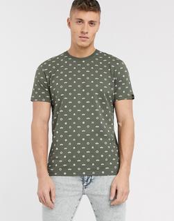 alpha industries - T-Shirt mit All-over-Print-Grün