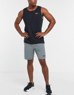 Nike Training - Flex3.0 – Gewebte Shorts in Grau