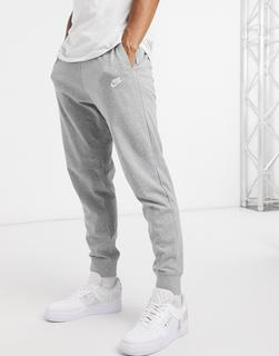 Nike - Club – Graue Jogginghose aus Jersey mit Bündchen