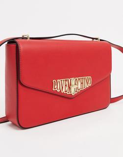 Love Moschino - Locked in Love – Umhängetasche in Rot