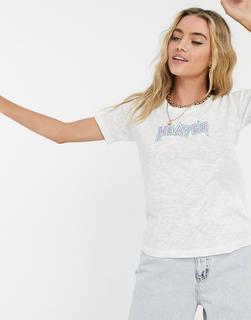 MiH Jeans - M.i.h. – Heaven– Weißes T-Shirt aus Jersey mit Logo
