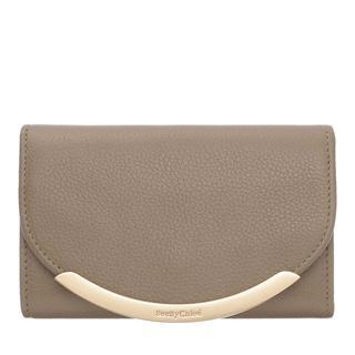 See by Chloé - Portemonnaie - French Wallet Leather Motty Grey - in beige - für Damen