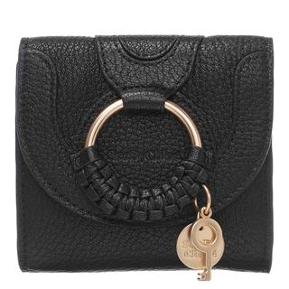See by Chloé - Portemonnaie - Hana Square Trifold Compact Wallet Leather Black - in schwarz - für Damen