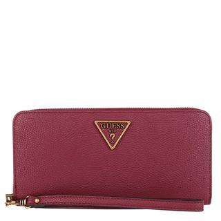 guess - Portemonnaie - Destiny Large Zip Around Wallet Merlot - in rot - für Damen