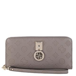 guess - Portemonnaie - Ninnette Large Zip Around Taupe - in grau - für Damen
