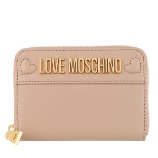 Love Moschino - Portemonnaie - Wallet Taupe - in rosa - für Damen