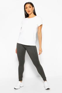 boohoo - Womens Basic Supersoft Jersey Leggings - Charcoal - M, Charcoal