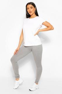 boohoo - Womens Basic Supersoft Jersey Leggings - Grey Marl - S, Grey Marl
