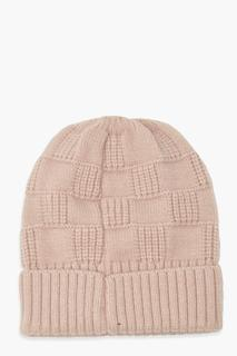 boohoo - Womens Knitted Weave Beanie - Lilac - One Size, Lilac