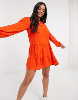 JDY - Mini-Hängerkleid in Orange