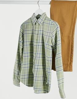 Polo Ralph Lauren - Klassisches, grün kariertes Hemd mit Logo