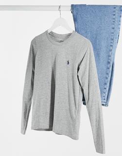 Polo Ralph Lauren - Klassisches, langärmliges Shirt in Grau-Weiß