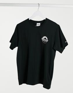 Tommy Jeans - Schwarzes T-Shirt mit Mountain-Logo