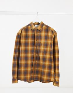 ASOS DESIGN - Kariertes Oversize-Hemd im Stil der 90er-Jahre in Senfgelb