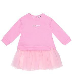 Balmain Kids - Baby Kleid aus Jersey und Tüll
