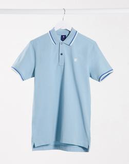 G-Star - Dunda – Schmales Polohemd mit Streifen-Blau