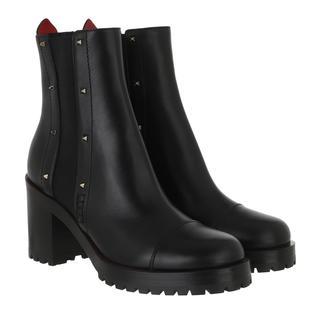 Valentino - Boots - Ankle Boots Leather Black - in schwarz - für Damen