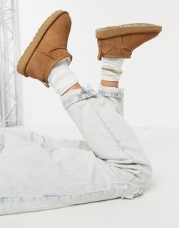 UGG - Classic Ultra Mini – Ankle-Boots in Kastanie-Bronze