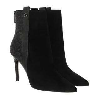 guess - Boots - Baize Heeled Bootie Leather Black - in schwarz - für Damen