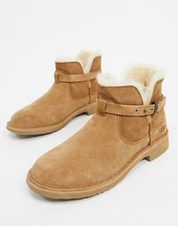 UGG - Elisa – Ankle-Boots in Kastanienbraun-Bronze