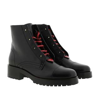 Valentino - Boots - Combat Boots Leather Black - in schwarz - für Damen