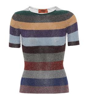 Missoni - T-Shirt aus Lamé-Strick