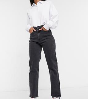 Tommy Jeans - Gerade Jeans mit ultrahohem Bund in verwaschenem Schwarz