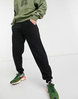 Russell Athletic - Schwarze Jogginghose aus Fleece