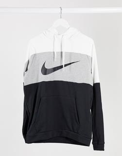 Nike Training - Kapuzenpullover mit Farbblock-Design und Logo in Grau