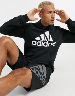 adidas Performance - adidas – Training – Schwarzer Kapuzenpullover mit Logo