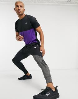 new balance - Running – Fast Flight– Schwarze Fleece-Jogginghose