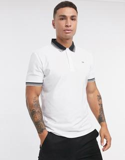 Calvin Klein Golf - Bi Lite– Polohemd in Weiß & Rosa