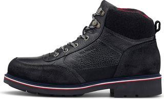 TOMMY HILFIGER - Winter-Boots Warm Check Lining in schwarz, Stiefel für Herren