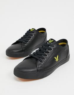 Lyle & Scott - Teviot – Sneaker aus Leder-Schwarz