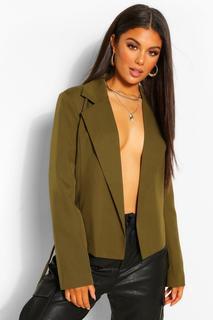 boohoo - Womens Eng Anliegender Blazer Mit Gürtel - Khaki - 36, Khaki