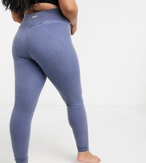 ASOS 4505 - Curve – Verwaschene Yoga-Leggings-Blau