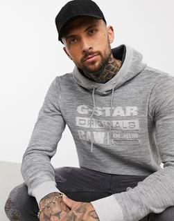 G-Star - Premium Core – Kapuzenpullover mit Logo-Grau
