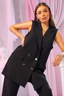 boohoo - Womens Eng Anliegender Mantel Mit Taschendetail - Schwarz - 36, Schwarz