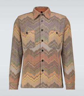 Missoni - Hemdjacke aus einem Wollgemisch