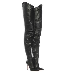 Vetements - Overknee-Stiefel aus Leder