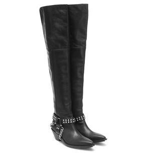 Junya Watanabe - Overknee-Stiefel aus Leder