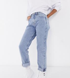Tommy Jeans - Gerade geschnittene Jeans mit extrem hohem Bund in heller Waschung-Blau