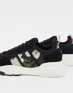 TED BAKER - Keaton – Sneaker mit Blumendruck-Schwarz