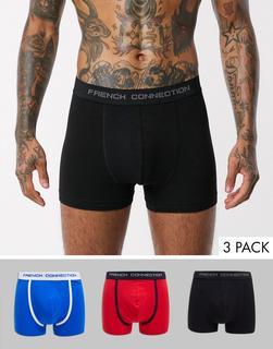 French Connection - Boxershorts aus Bio-Baumwolle, 3er-Pack-Mehrfarbig