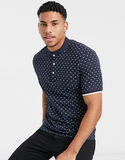 Selected Homme - Schmales Polohemd-Navy