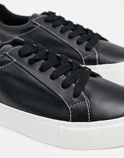 Topman - Schwarze, Sneaker mit dicker Sohle