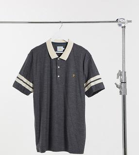 Farah - Redford – Polohemd mit Ärmelstreifen in Grau
