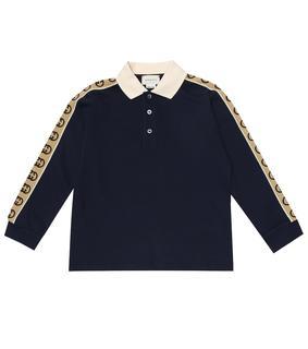 Gucci Kids - Poloshirt aus Baumwoll-Piqué